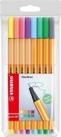 Stabilo Tintenschreiber point 88 8Stück - Pastell