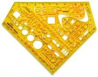 Schablone Schulwinkel-Elektro 155x155x1,3mm ARISTO ®