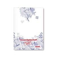 Herlitz Aufgabenheft A5 48 Blatt für coole Köpfe, Motiv Kritzel