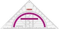 Geo-Dreieck/ Geometrie-Dreieck 16cm Griff pink