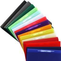 FLVG Schnellhefter A4 in 15 Farben- von hinten abheftbar, kein ständiges Umheften nötig