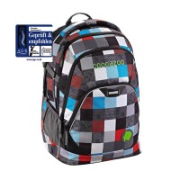 COOCAZOO Schulrucksack Everclevver2 - Checkmate Blue Red
