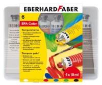 Faber-Castell Tempera Tuben 6er Etui 18ml