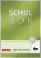 BRUNNEN Schulblock A4, Lin dm, 50Blatt, Premium, 90g