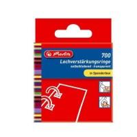 Herlitz Lochverstärkungsring 11mm, transparent, quadratisch, 700er Spendebox