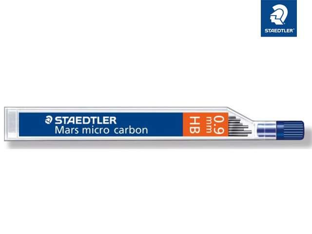 """0,9 mm HB 2 x 12 STAEDTLER Druckbleistift-Minen Feinmine /""""Mars micro carbon/"""""""
