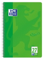 Oxford Touch Collegeblock LIN 27 A4, 80 Blatt, liniert grasgrün, Doppelrand, 90gm²