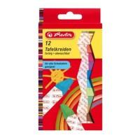Herlitz Tafelkreide farbig sortiert 12 Stück in Hängepackung