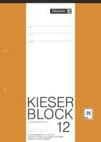 BRUNNEN Zeichenblock A4 Kieser, unliniert, 25Blatt, 150 gm²